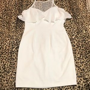 BCBGeneration Fitted White Mini Dress